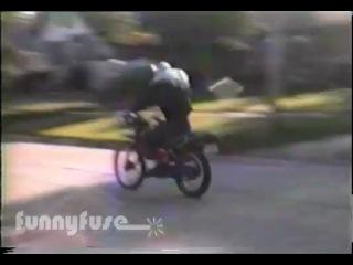 Классный прикол на мотоцикле